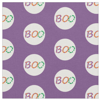 "Halloween fabric with colorful ""Boo"""