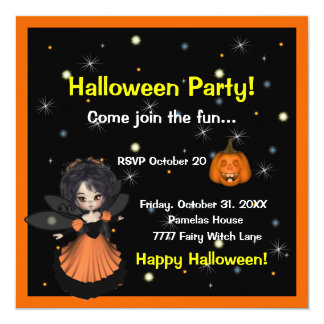 Halloween Fairy Invitation