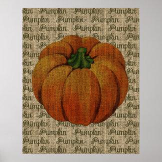 Halloween & Fall Vintage Pumpkin Poster Art