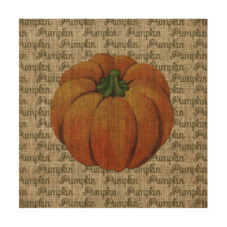 Halloween & Fall Vintage Pumpkin Wood Canvas