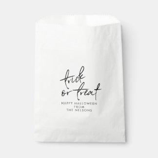 Halloween Favor Bag | Halloween Treat Bag White