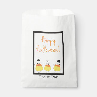 Halloween Favor Bags with Candy Corn