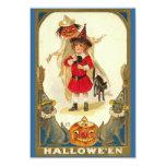 Halloween Feast Invitation Vintage Cats Kid