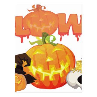 Halloween Festive Design Postcard