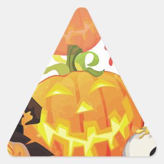 Halloween Festive Design Triangle Sticker