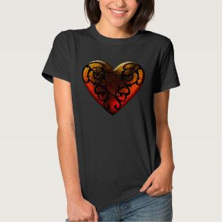 Halloween Filigree Goth Heart T Shirt