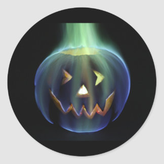 Halloween Flaming Pumpkin Sticker