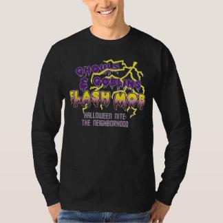 Halloween Flash Mob Dark Basic Long Sleeve Tshirts