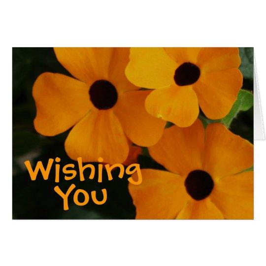 Halloween Flowers Card