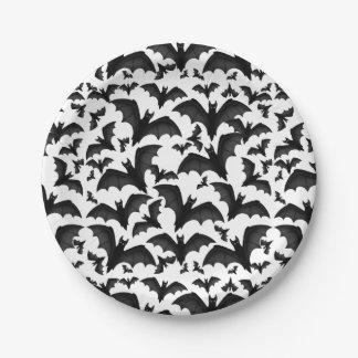 Halloween Flying Vampire Bats Paper Plates