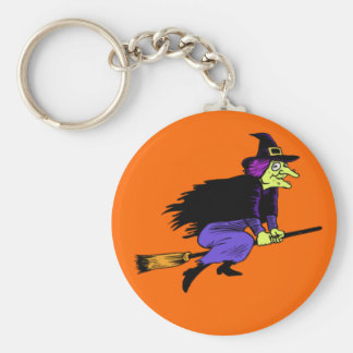 Halloween Flying Witch Key Chain