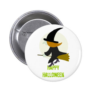 Halloween Flying Witch Pins