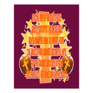 Halloween for Christians Poem Personalized Flyer