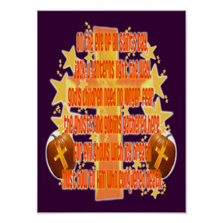 Halloween for Christians (Poem) Posters