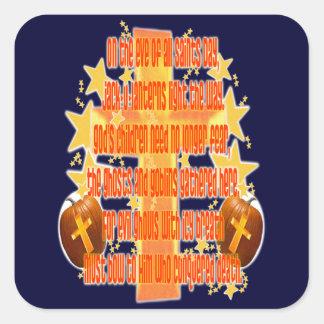 Halloween for Christians (Poem) Square Sticker