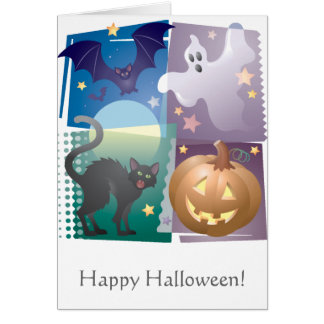 Halloween Foursome Greeting Card