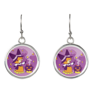Halloween Fox Witch Summoning Candy Earrings