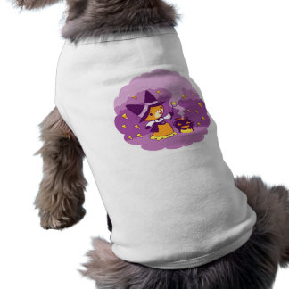 Halloween Fox Witch Summoning Candy Sleeveless Dog Shirt
