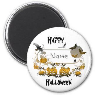 Halloween Frame 6 Cm Round Magnet