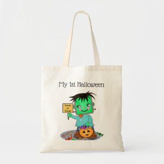Halloween Frankenstein Custom Text Treat Candy Bag
