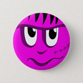 Halloween Frankenstein - pink 6 Cm Round Badge