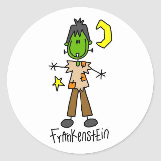 Halloween Frankenstein Stick Figure Sticker