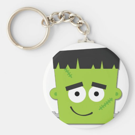 Halloween Frankenstein T-shirts and Gifts Basic Round Button Key Ring