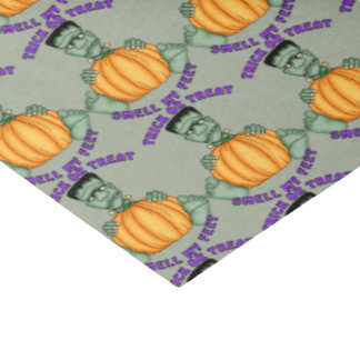 Halloween Frankenstein tiled pattern tissue paper