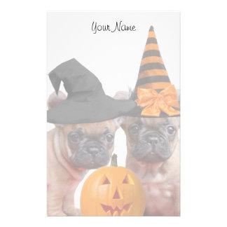Halloween French Bulldog puppies stationary Customised Stationery