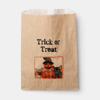 Halloween French Bulldogs treat bags