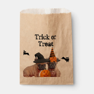 Halloween French Bulldogs treat bags Favour Bags
