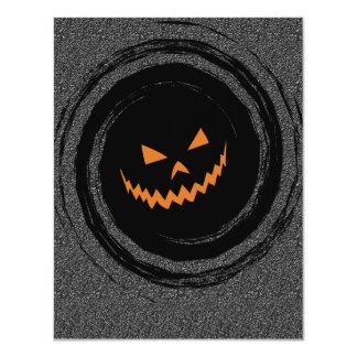Halloween Fright Night glowing Jack O'Lantern Card
