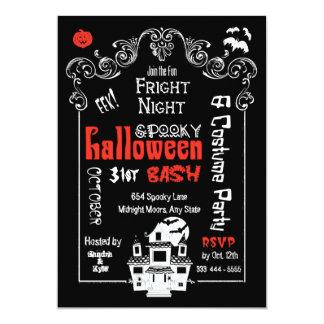 "Halloween Fright Night Party Invitation- Groupon 5"" X 7"" Invitation Card"