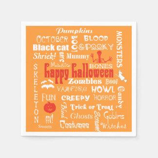 Halloween Fright Night Topography Paper Napkin