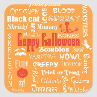Halloween Fright Night Topography Stickers