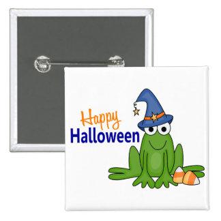 Halloween Frog 15 Cm Square Badge