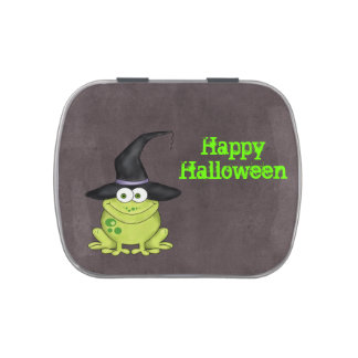 Halloween Frog Candy Tins