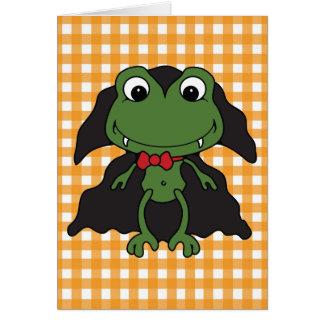 Halloween Frog Dracula Card