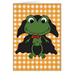 Halloween Frog Dracula Greeting Card