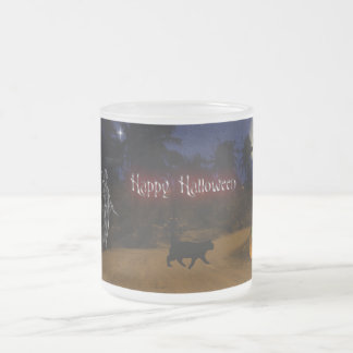 Halloween Frosted Glass Coffee Mug
