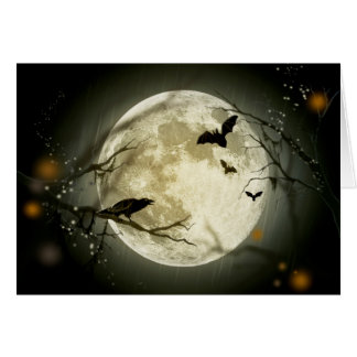 Halloween Full Moon Greeting Card