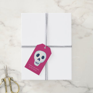 Halloween Fun Skull Gift Tags