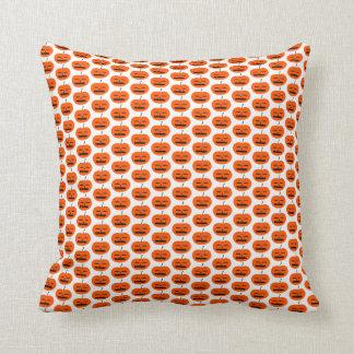 halloween funky pumpkin scatter throw cushion