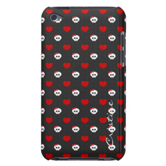 halloween funny cartoon skulls with name barely there iPod cases
