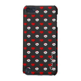 halloween funny cartoon skulls with name iPod touch 5G covers