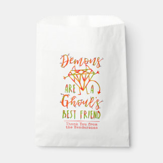 Halloween Funny Demons are a Ghouls Best Friend Favour Bags