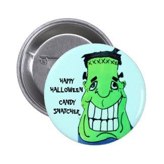 HALLOWEEN FUNNY FRANKENSTIEN button