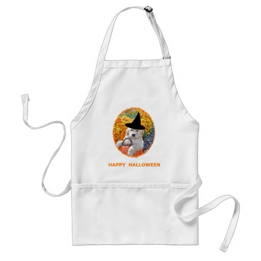 Halloween Funny Puppy Witch T-Shirts & Gift Items Aprons