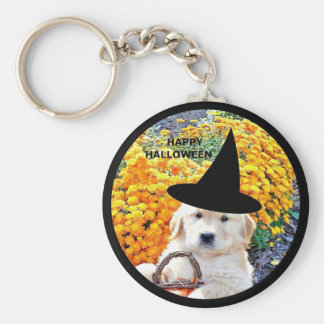 Halloween Funny Puppy Witch T-Shirts Gift Items Key Chains