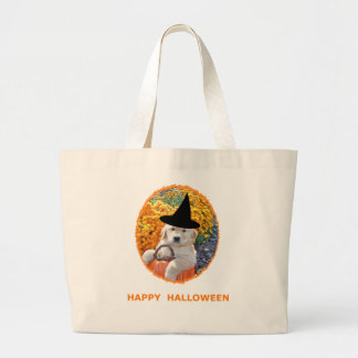Halloween Funny Puppy Witch T-Shirts & Gift Items Bag
